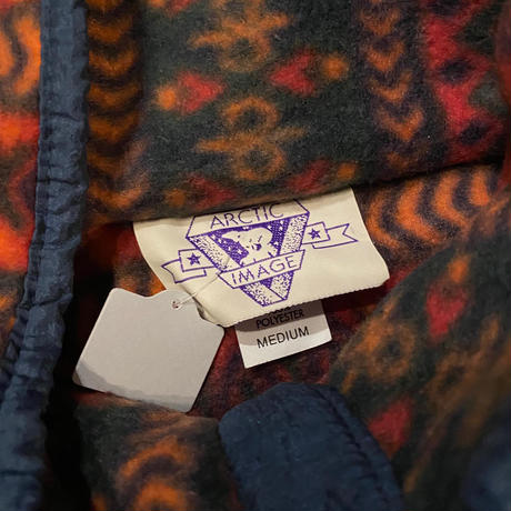ナバホ族刺繍 柄フリース