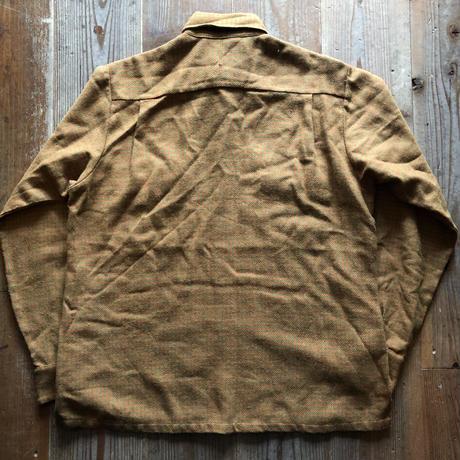 〜70's Ed Cowmanウール混ビンテージボタンダウンシャツ