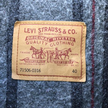 USA製Levi's71506-0316ブランケット付きデニムジャケット
