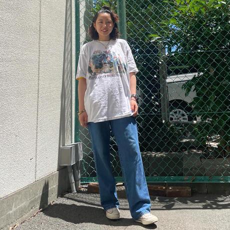 USA製バスケデザイン両面Tシャツ