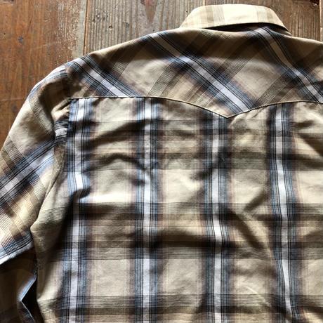 70's ラングラーウエスタンチェックシャツ M