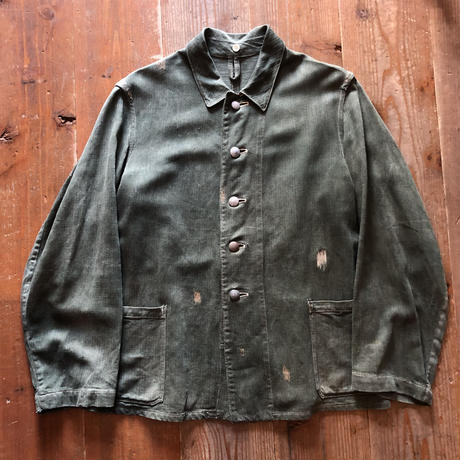 〜40's German Army Linen Herringbone Jacket