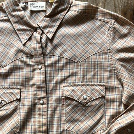 80'sリーバイス ウエスタンチェックシャツ S  (13)