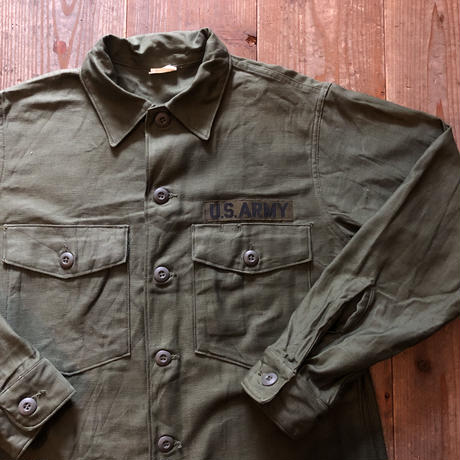 60's〜コットン ユーティリティシャツ 15 1/2 x33 ④