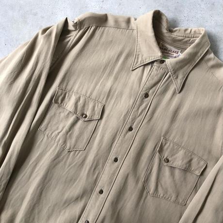 50's〜GAME AND LAKEビンテージ マチ付きギャバジンシャツ