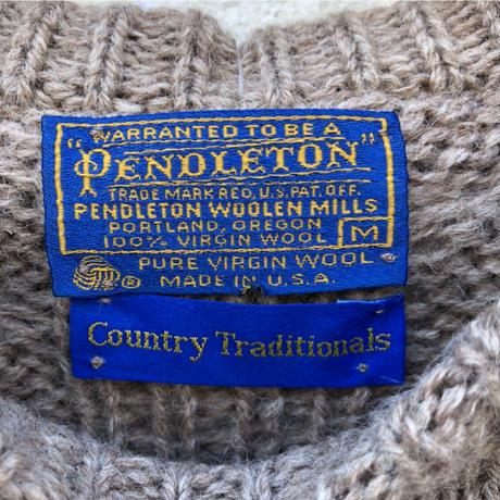 PENDLETON ケーブルニットセーター