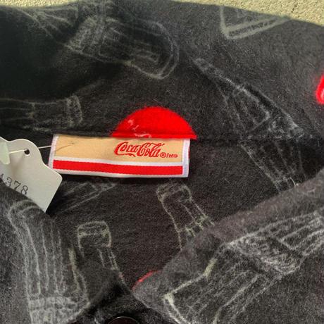 コカコーラ柄パジャマシャツ