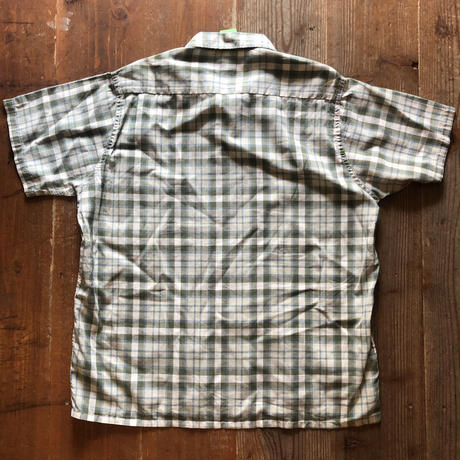 Vintage Pennys 半袖開襟チェックシャツ