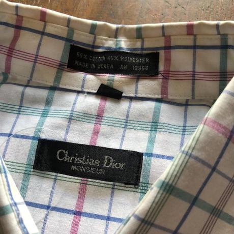 Christian Dior 半袖チェックシャツ