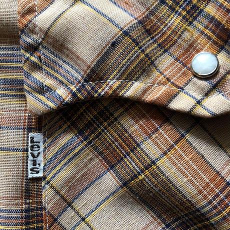 70's-80'sリーバイス ウエスタンチェックシャツ M (11)