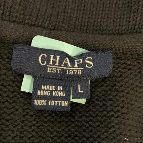 CHAPS ショールカラーコットンニットカーディガン