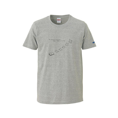 "T-shirt ""A Harbor of  Words""  -Gray-"
