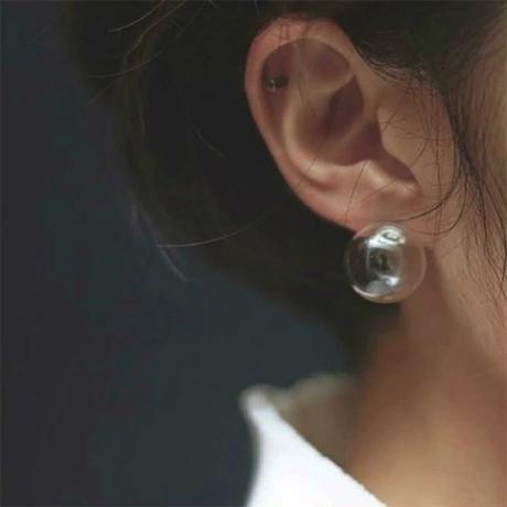 シャボン玉 ピアス ガラス シンプル 大人 ナチュラル ナチュラルファッション アクセ accessory 韓国 透明 クリア 高品質 大人可愛い 通販 カジュアル お洒落 おすすめ 人気 海外