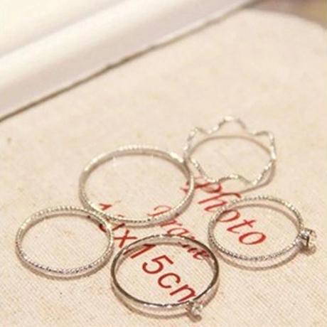 リング 指輪 アクセサリー セット シルバーカラー おしゃれ 可愛い 韓国 海外 韓国風 シンプル デイリー カジュアル トレンド プチプラ 大人 きれいめ 綺麗 お洒落 かわいい ファッション