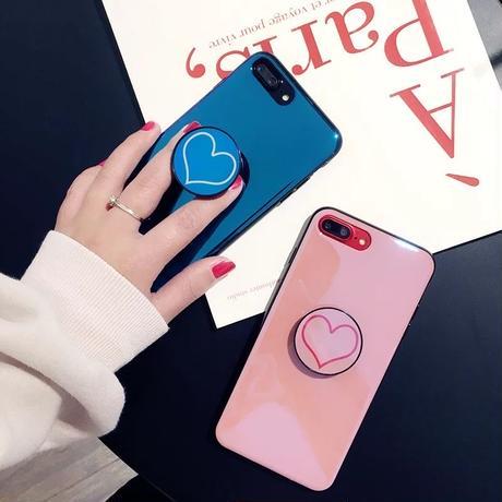 【即納】iPhoneケース ハート リング付き バンカーリング アイフォン7 アイフォーン7 アイフォーンカバー アイフォン7ケース アイフォン8ケース ハートケース アイフォンカバー 7 8 x