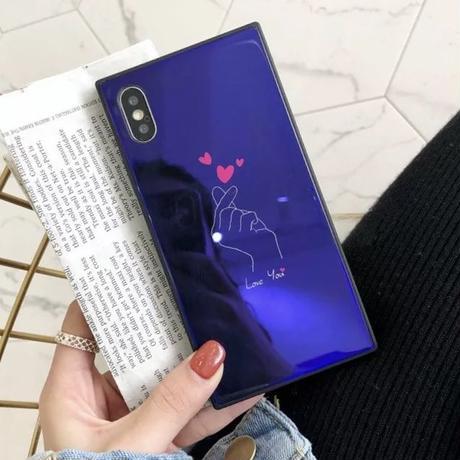 韓国 スクエアケース iPhoneケース iphonecase スマホケース 指ハート 人気 流行り おすすめ かわいい おしゃれ 女子 シンプル 6 6s iPhone6 iPhone6s