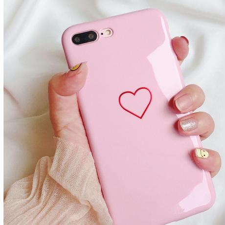 シリコン スマホケース iPhoneケース アイフォンケース ピンク 韓国 ハート かわいい おすすめ 6plus 6splus 6プラス 6sプラス iPhone6plus iPhone6sプラス
