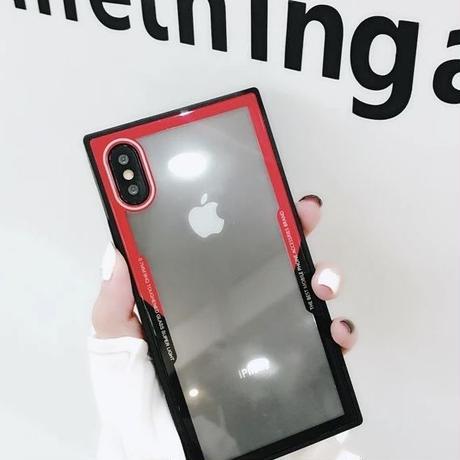 クリア スクエアケース iPhoneケース スマホケース 韓国 透明 人気 おすすめ 海外 シンプル カバー 6 6s 7 8 X XS iPhone6s iPhone8 iPhoneXS