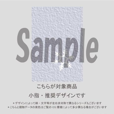 【小指用】雪の結晶&チェック/864