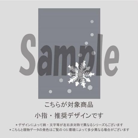 【小指用】雪の結晶シンプルアート(結晶&シックグレイ)/794