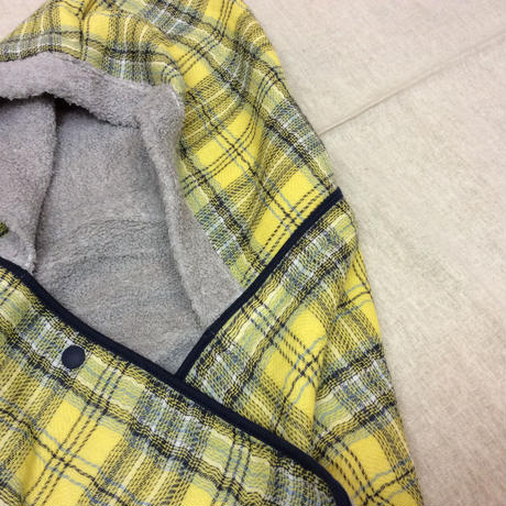 タータンチェック フード付きバスタオル