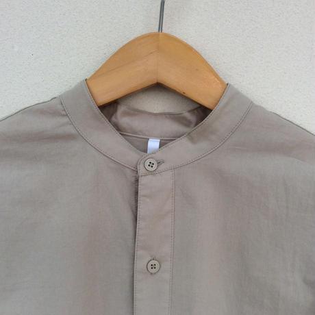 Dignite collier バンドカラーコットンシャツ