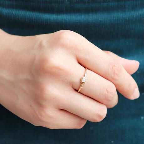 QIREINI K10YG ダイヤモンドリング