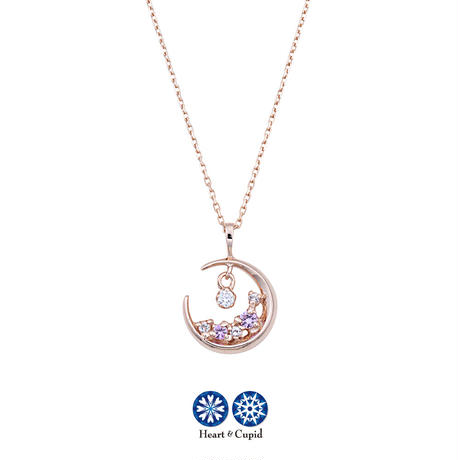 K10PG H&C ダイヤモンド/ピンクサファイヤ/ホワイトトパーズネックレス