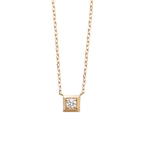 QIREINI K10YG ダイヤモンド ネックレス