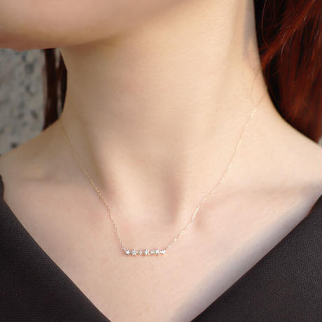 K10YG H&C ダイヤモンドネックレス