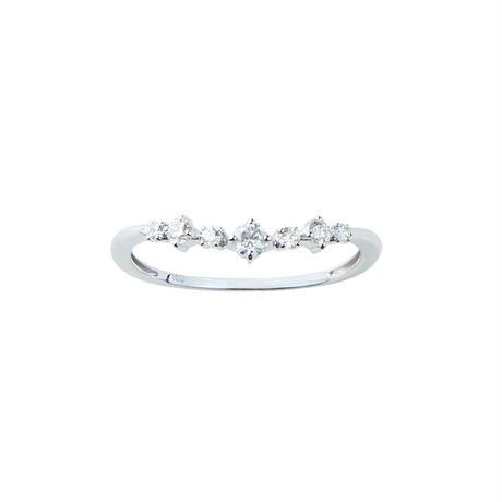 QIREINI K18WG/K18YG  ダイヤモンドリング
