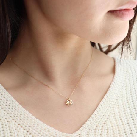 QIREINI K10YG ダイヤモンドネックレス(ダンシングストーン)