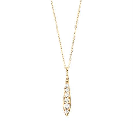 QIREINI K10YG ダイヤモンドネックレス