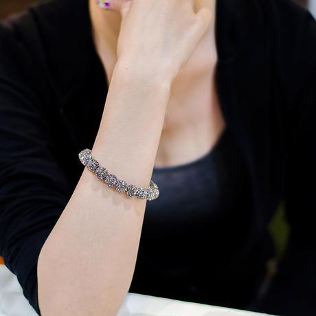 ラインストーンパヴェブレスレット(ブラックダイヤモンド)