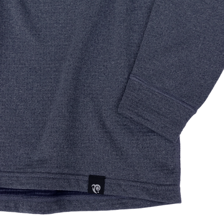 19/20 POWER WOOL GRID BASE CREW / NAVY HEATHER