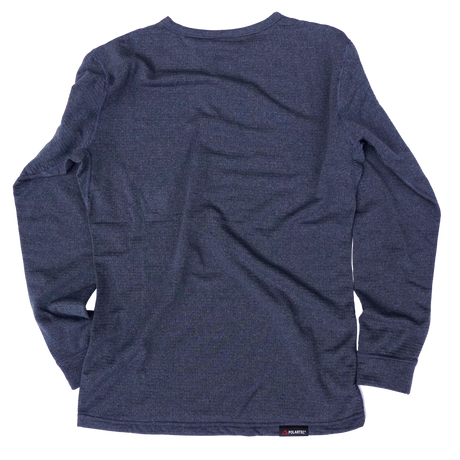 POWER WOOL GRID BASE CREW / NAVY HEATHER