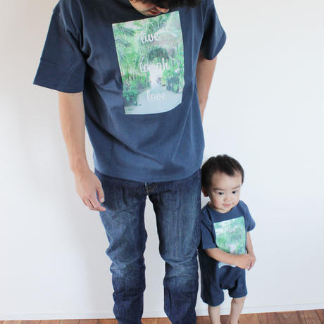 T-shirt <Navy×Palm Green>   FOR  KIDS