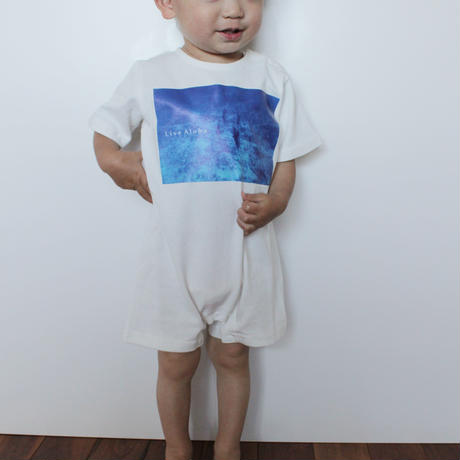 Rompers<ロンパース> White×Palm Monochrome
