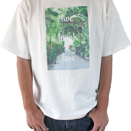T-shirt <White×Palm Green>   FOR  KIDS