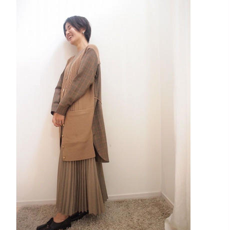 【限定アイテム】cable check Cardigan  camel