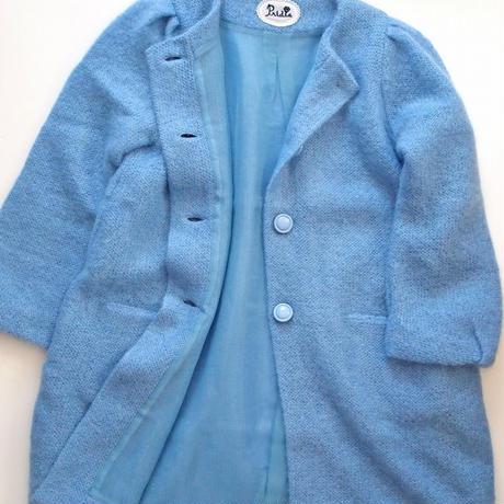 fur mohair Coat blue
