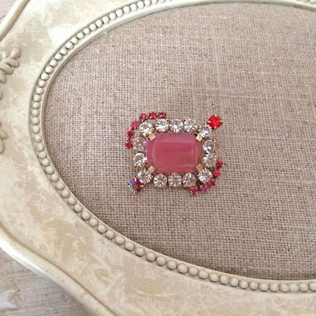 bijou brooch ①  pink