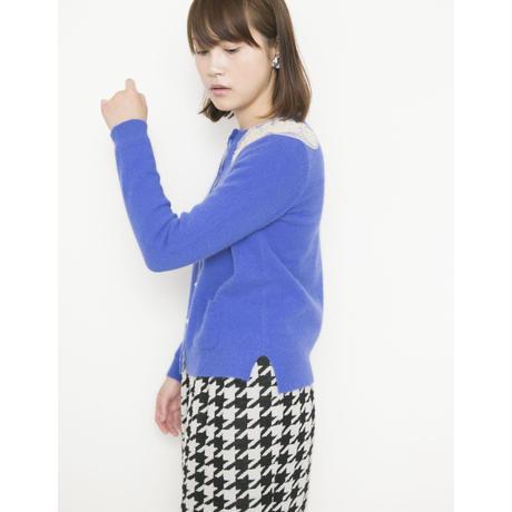 【SALE】tulle angora Cardigan blue