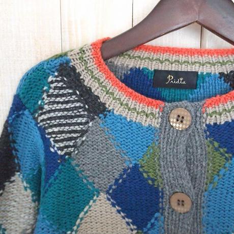cashmere argyle Cardigan bluegreen