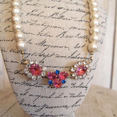 cotton pearl bijoux necklace petite 33⑦