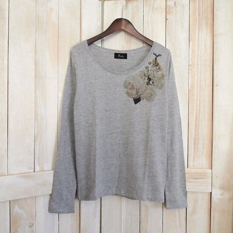 flower corsage long tee