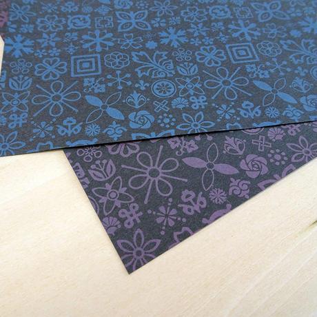 KPM027-B Wrapping Paper  #1FLEURON ブルー 1枚