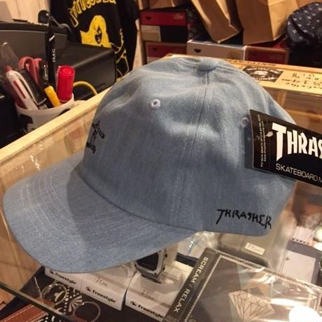 THRASHER GONZ LOGO  DENIM CAP