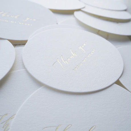 Gold foil  THANK YOU CARDS 10sheets