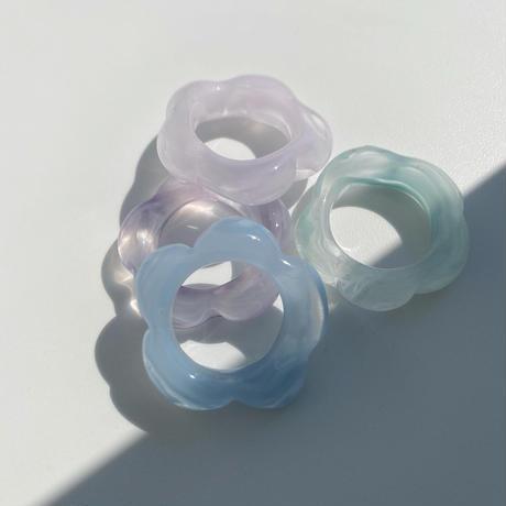 flowerglassring(morningglorymarble)